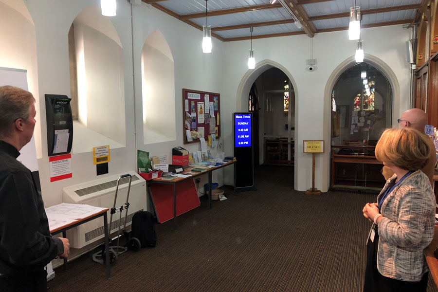 Lobbysign Digital signs - perfect for churches and religious establishments