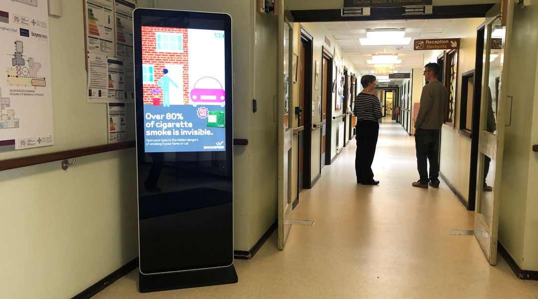 LCD Freestanding Digital displays for healthcare from Lobbysign Digital signage